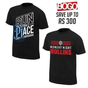 BOGO OFFER 04 - AJ Styles and Seth Rollins Combo T Shirts