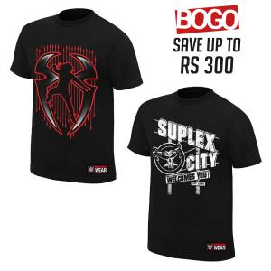BOGO OFFER 01 - Roman Reigns and Brock Lesnar Combo T Shirts