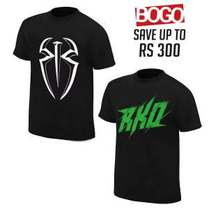 BOGO OFFER 08 - RKO and Roman Reigns Combo T Shirts