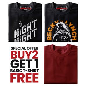 Combo 1 Special Offer Buy 2 Get 1 Basic T Shirt FREE