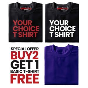 Combo 4 Special Offer Buy 2 Get 1 Basic T Shirt FREE