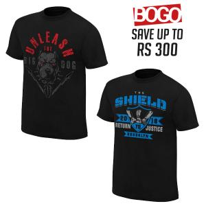 BOGO Offer 11 - Roman Reigns and T Shirts Combo T Shirts