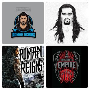 Pack of 4 Roman Reigns Artistic Tea Coasters