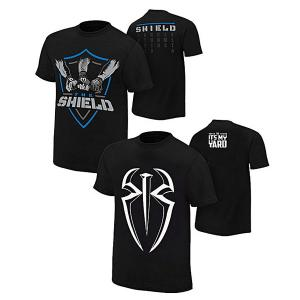 Pack of 2 Deal - Shield & Roman Reigns T Shirts