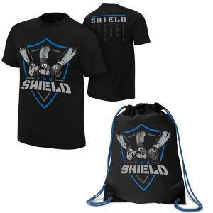 Pack of 2 Deal - The Shield Drawstring Bag With T Shirt